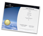 digital star certificate